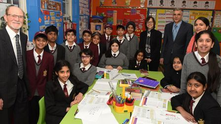 A group from Latin America visit the Guru Gobind Singh Khalsa College to speak to students about com