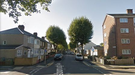 The 13-year-old was stabbed at around 7pm on Thursday evening in Gainsborough Avenue. Picture: Googl