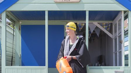 Clarissa Bruce, who will be swimming from Dover to France for charity