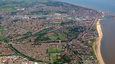 Mike Page aerial photograph of Lowestoft. Picture: MIKE PAGE