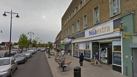 Aggressive beggars have been spotted outside Nisa Extra in Manford Way. Photo: Google
