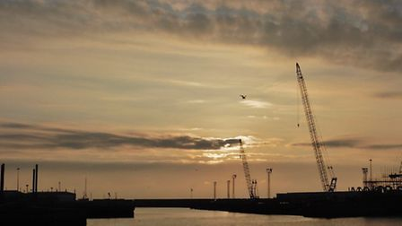 Jessamy Adams, 18, took this picture from near the south pier at sunrise. Picture: JESSAMY ADAMS