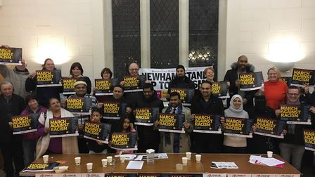 Councillors, campaigners and residents met to discuss Islamophobia in Stratford on Friday, Picture: