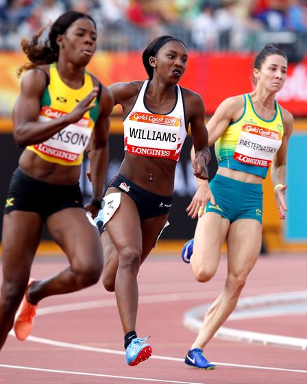 England's Bianca Williams in action in the heats of the women's 200m at the Carrara Stadium during d