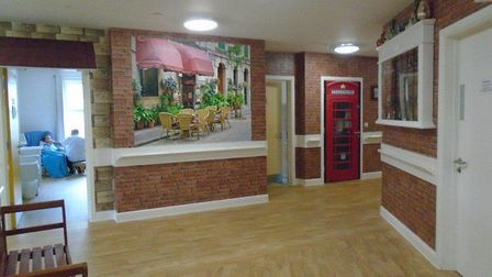 The dementia unit at Howard Lodge is themed around a village