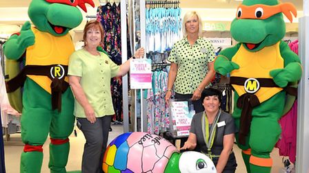 Lowestoft Turtle Trail, Chris Green - Debbie Daniels and Andrea Mace in Marks and Spencer