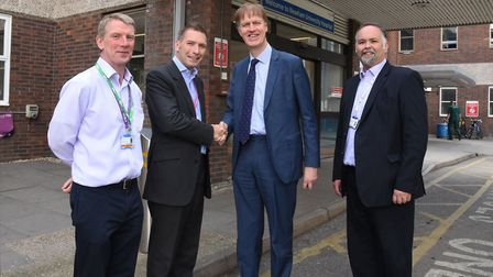 MP Stephen Timms on a visit to Newham University Hospital to look at the Macmillan Information and S