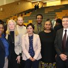 Some of the attendees at the Newham Youth Independent Advisory Group meeting Picture: UEL