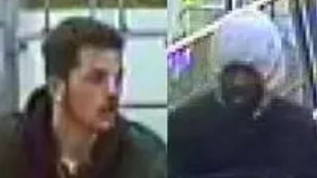 Police issued CCTV stills of four men wanted in connection to the attack. Picture: Met Police