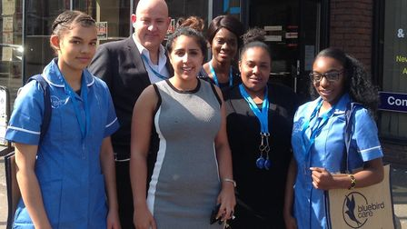 The team at Bluebird Care Docklands, Wapping and Stratford. Picture: Bluebird Care