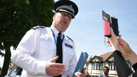 Chief Superintendent Jason Gwillim speaking about about the murder of 85 year old Rosina Coleman, af