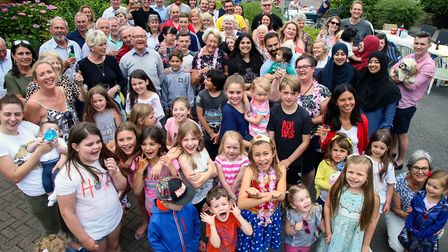 Children attend a street party in Beverley Crescent, Woodford Green, in July last year.