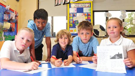 Youngsters from Blundeston primary school have been learning about the history of Dunwich.