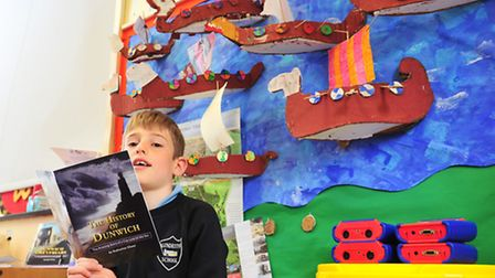 Youngsters from Blundeston primary school have been learning about the history of Dunwich.Jonathan G