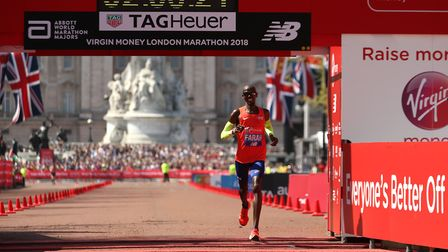 Sir Mo Farah finishes third in the 2018 London Marathon in a new British record time (pic Paul Hardi