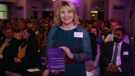 Nurse Consultant Geraldine Rodgers collects award for Significant 7 at Cavell Nures Trust awards 201