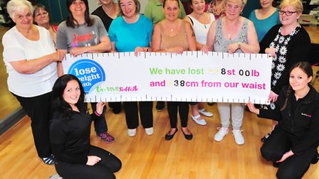 Members of Live Well Suffolk's adult weight management group have collectively lost 111lb.
