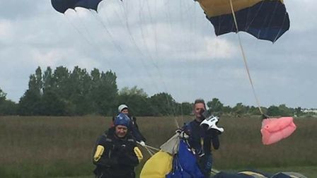 Paul Rains has booked another skydive as he enjoyed the experience so much. Pictures: Submitted