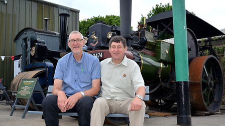 Ken and Bernie Ward celebrate 100 years of volunteering at the East Anglia Transport Museum in Carlt