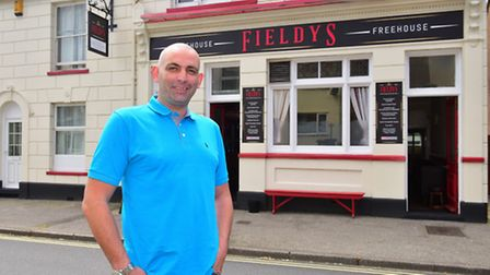 Owner David Field outside the pub. Pictures: Nick Butcher