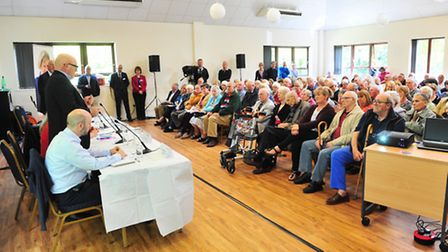 Public meeting on the consultation to close Southwold hospital.