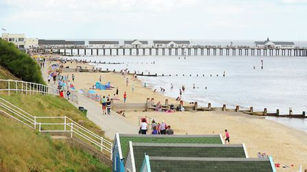 Southwold beach and pier.August 2013Picture: James Bass