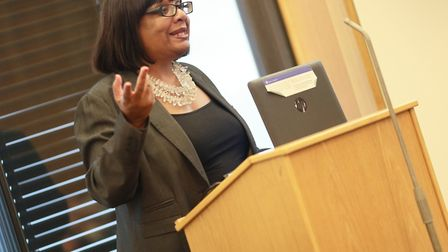 Diane Abbott MP at the sickle cell standards launch. Picture: Darnell Ibraham