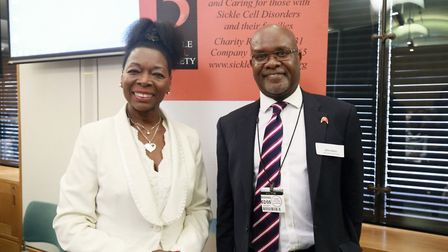 Baroness Floella Benjamin and Sickle Cell Society CEO John James. Picture: Darnell Ibraham