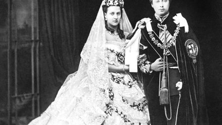 Edward, Prince of Wales (later King Edward VII), and his bride, Princess Alexandra of Denmark, afte