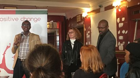 Knife crime, gangs and inequality were discussed over breakfast at Theatre Royal Stratford East. Pic