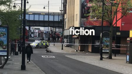 A man in his 20s has been stabbed after a fight in South Street, Romford.