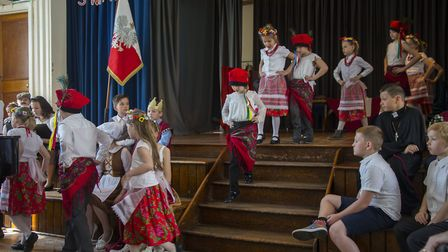 Polish Heritage day at Ursuline School in Ilford to showcase the Polish contributions to the communi