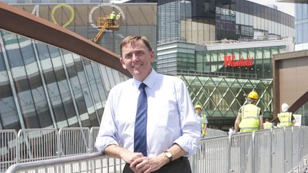 Sir Robin Wales outside Westfield Stratford. Pic: Archant.