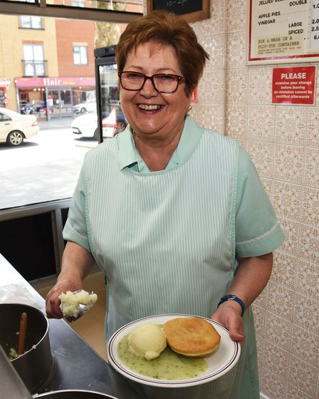 Nathan's Pies and Eels in Barking Road is closing after 80 years trading. Christine Nathan serves up
