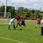 150Club members take part in a walking football session Picture: Ken Mears