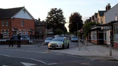 Police and paramedics were called to reports of a stabbing in Wanstead Park Avenue. Photo: Clive Pow