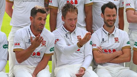 Ryan ten Doeschate and Tom Westley share a joke during the Essex CCC Press Day (pic Gavin Ellis/TGS