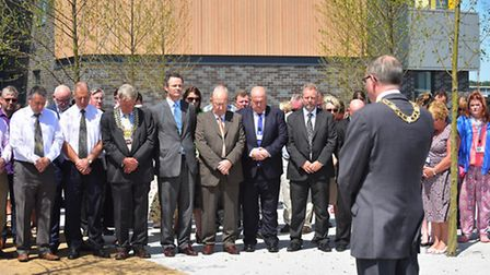 Official opening of the new Riverside building for Waveney and Suffolk council.Mayor Stephen Ardley