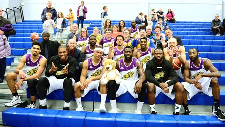 London Lions face the camera after their match (pic Graham Hodges)