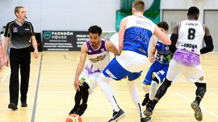 Justin Robinson attacks for London Lions (pic Graham Hodges)