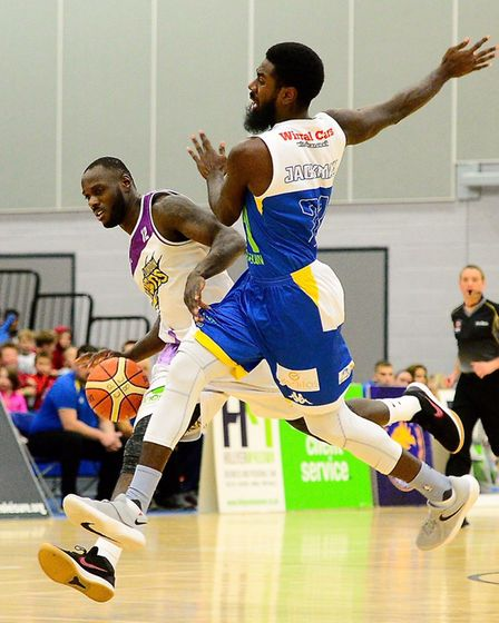 Action from London Lions clash at Cheshire Phoenix (pic Graham Hodges)