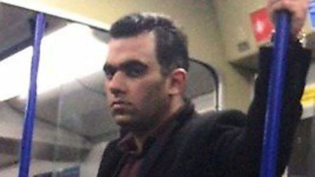 Detectives from the British Transport Police would like to speak to this man in connection with a se