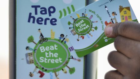The Beat the Street beat box and card,
