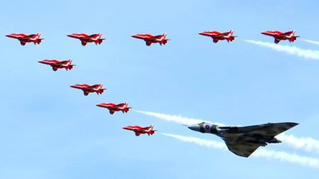 IN FORMATION: Picture of the Week winner Colin Rice, from Lowestoft's stunning shot.