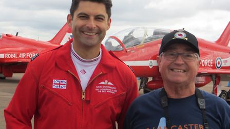 WINNER: Colin Rice, Picture of the Week winner with Squadron Leader David Montenegro, known as 'Red