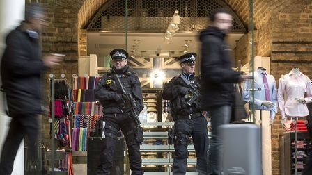 A man was arrested by British Transport Police after allegedy walking more than eight miles along th