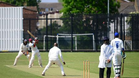 Newham in batting action against Bow Green (pic Tim Edwards)