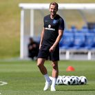 England's Harry Kane during the training session at St George's Park (pic: David Davies/PA Images).