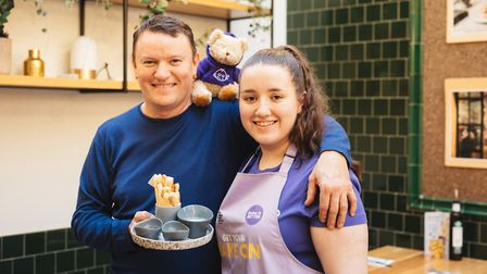 Niamh with expert chef Theo Randall. Photo: Cat Lane