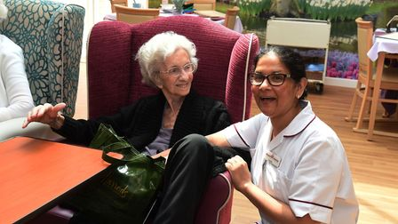 Residents at the Rowallan Day Care Centre in Little Heath.